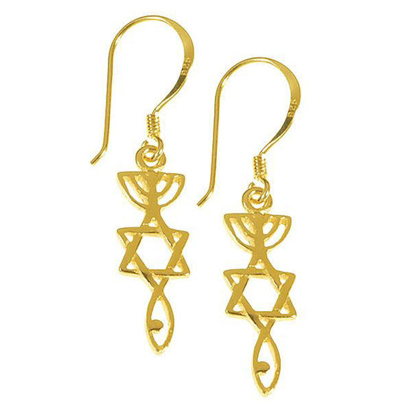 Messianic roots earrings - Rock of Israel