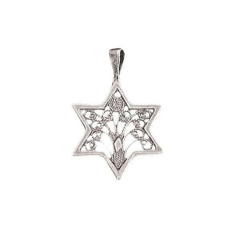 Sterling Silver Tree of Life filigree - Rock of Israel
