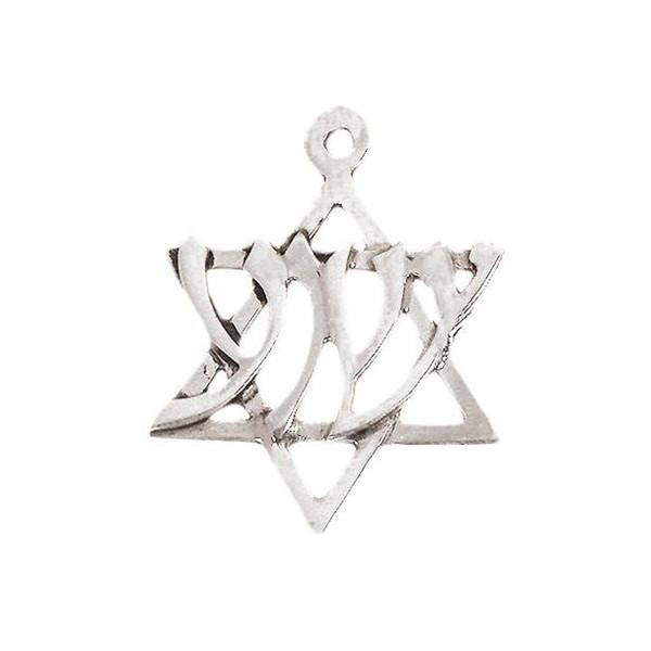 "Necklace Sterling Silver ""Yeshua"" - Rock of Israel"