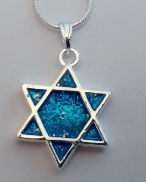 Star of David blue necklace - Rock of Israel