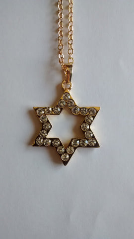 Star of David Necklace with Rhinestones - Rock of Israel