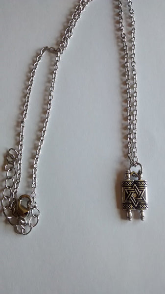 Mini Torah Scroll Necklace - Rock of Israel