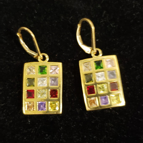 High Priest Breastplate Earrings. Gold plated - Rock of Israel Store
