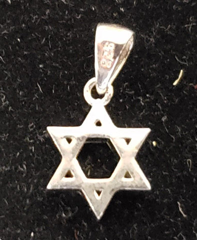 Jewish Star of David necklace. Silver 925 - Rock of Israel Store