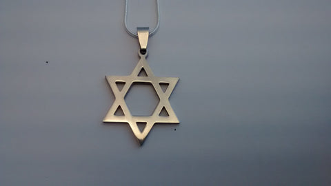 Star of David necklace - Plain - Rock of Israel