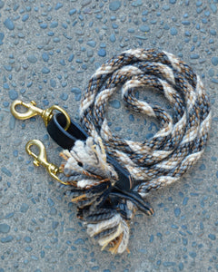 Grey, Cream, Black Fleck Loop Reins