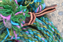 Green Loop Rein with Purple and Blue Fleck
