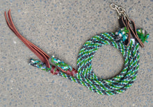 Green, Blue, and Grey Split Reins