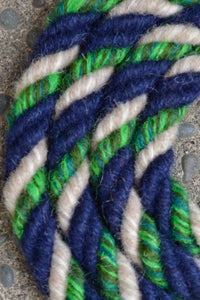 Dark Blue, Green, and Cream Loop Reins