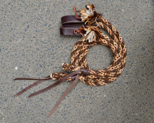 Brown Medley Split Reins (Traditional Colours)