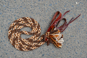 Brown Medley Loop Reins (Traditional Colours)