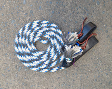 White, Grey, Blue Fleck Loop Reins