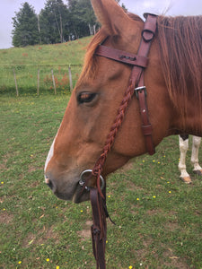 Plaited Cheek Bridle / Headstall