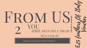 VIP Subsriber April Winner Announced Recieves £25 Voucher