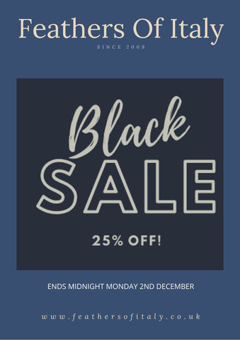 BLACK SALE 25% OFF ENDS MONDAY AT MIDNIGHT WHILST STOCKS LAST