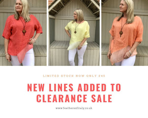 HUGE CLEARANCE SALE NOW ON