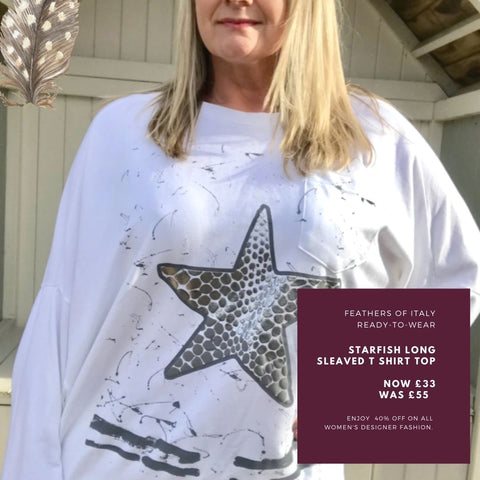https://www.feathersofitaly.co.uk/products/starfish-long-sleaved-t-shirt-top-in-white-made-in-italy-by-feathers-of-italy-one-size