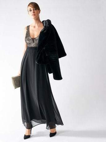 https://www.feathersofitaly.co.uk/collections/party-dresses/products/rinascimento-abito-dress-black-maxi-style-with-low-cut-front-in-copper-sequins