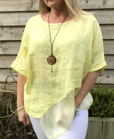 https://www.feathersofitaly.co.uk/collections/tops/products/silk-layer-linen-top-in-carary-yellow-made-in-italy-by-feathers-of-italy-one-size