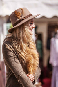 Luxury 100% Cashmere & Ostrich Feather Trim Fitted Jacket in Olive By Feathers Of Italy One Of A Kind - Feathers Of Italy