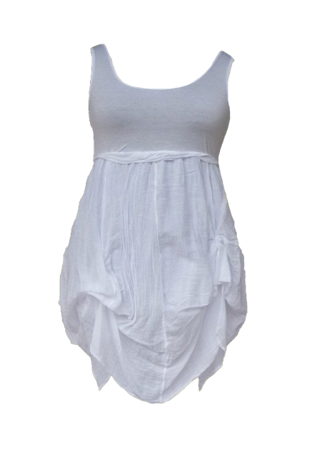 Sicily Jersey Sun Dress in White