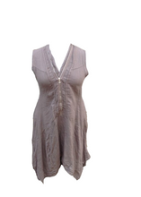 Load image into Gallery viewer, Vienna Zip Linen Dress in Mocha - Feathers Of Italy