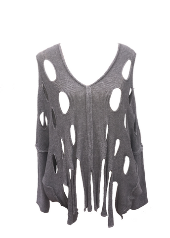 Alba Holed Jumper in Grey