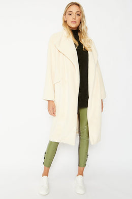 Praiano Faux Fur Oversized Coat - Various Colours
