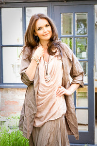 Slouch Oversized Linen Jacket in Various Colours Made In Italy by Feathers Of Italy - Feathers Of Italy