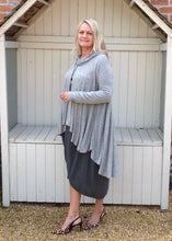 Load image into Gallery viewer, Swing Top with Cowl in Marl Grey - Feathers Of Italy