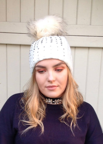 Freya Diamonte Choker in Grey or black - Feathers Of Italy