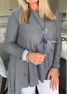 Mont Blanc Jumper in Grey - Feathers Of Italy