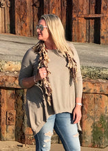 Load image into Gallery viewer, Casual Cashmere Mix Super Soft Angular Jumper in Mocha Made In Italy By Feathers Of Italy - Feathers Of Italy