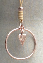 Load image into Gallery viewer, Rose Gold Pendant Necklace with Heart & Hoop - Feathers Of Italy