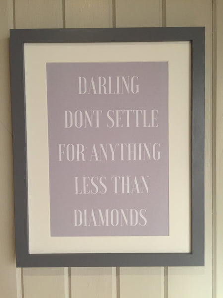Framed Print - Too glam to give a damn