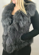 Load image into Gallery viewer, Luxury Fur Gilet in Slate Grey by Feathers Of Italy - Feathers Of Italy