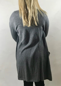 Limited Edition Star Cardigan with Star Detail Back In Grey - Feathers Of Italy