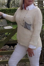 Load image into Gallery viewer, Ischia Patch Pocket Jumper in Cream - Feathers Of Italy