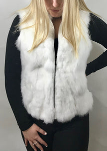 Fur Gilet in Snow White by Feathers Of Italy - Feathers Of Italy