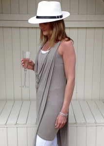 Capri Dress In Mocha - Feathers Of Italy