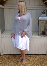Load image into Gallery viewer, Sicily Five Way Poncho in Duck Egg - Feathers Of Italy
