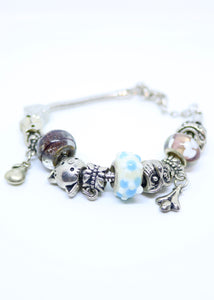 Children's Pandora Style Charm Bracelet - By Feathers Of Italy - Feathers Of Italy