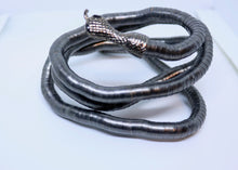 Load image into Gallery viewer, Bendy Snake Necklace or Bracelet in Gunmetal Grey - Feathers Of Italy - Feathers Of Italy