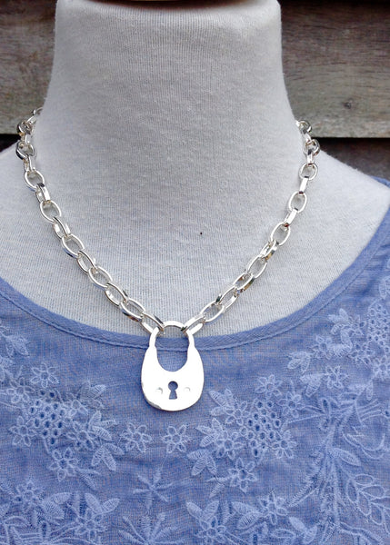 Lock Necklace - Feathers Of Italy