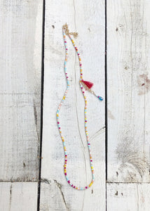 Carnival Tastle Necklace Multicoloured - Feathers Of Italy