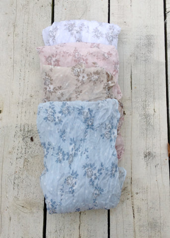 Floral cotton scarf in Various colours - Feathers Of Italy