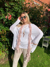 Load image into Gallery viewer, Gauli Oversized Fine Knit Top in White Made In Italy by Feathers Of Italy One Size - Feathers Of Italy