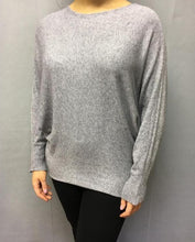 Load image into Gallery viewer, Limited Edition Angora Angels Batwing Jumper In Grey Made In Italy By Feathers Of Italy - Feathers Of Italy