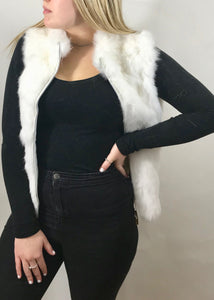 Fur Gilet in Pink by Feathers Of Italy - Feathers Of Italy