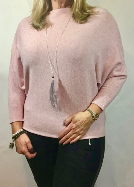 Limited Edition Angora Angels Batwing Jumper In Grey, Pink Or Black
